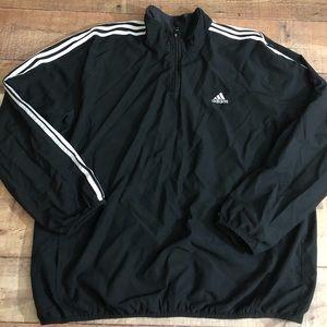 Vintage 90's Adidas Windbreaker Pullover Size 2XL